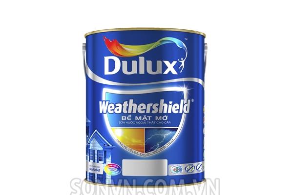 Ngoại thất Dulux Weathershield Bề Mặt Mờ - Lon 5L
