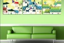 Mẫu sơn nhà nội thất đẹp tông màu xanh lá tươi trẻ