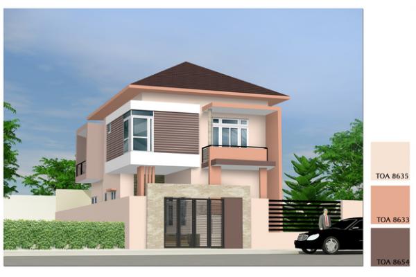 Cách phối hợp màu sơn cho mặt tiền nhà theo phong cách hiện đại